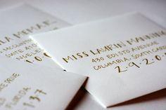 Lovely hand addressed envelopes.