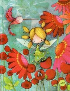 Little Flower Fairy Children's Book Illustration, Illustrations, Art Fantaisiste, Art Mignon, Clay Figures, Whimsical Art, Painting For Kids, Medium Art, Cute Drawings