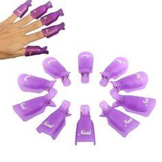 Lowest price Free shipping 10PC Plastic Nail Art Soak Off Cap Clip UV Gel Polish Remover Wrap Tool
