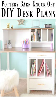 Diy Desk Hutch With Free Plans From Ana White Pinterest And Desks