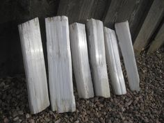 3 Fireplace logs Free shipping Selenite by OurPlanetsTreasures ...