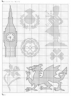 Gallery.ru / Photo # 13 - Cross Stitch Silhouettes - Orlanda, laurel wreath thistle bagpipes piper