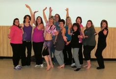 The fabulous Flin Flon ladies at a Bellydance workshop with Zenobia -  2013.