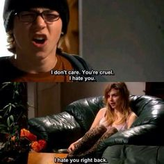 Sid and Cassie - Skins Uk Skins Quotes, Film Quotes, Movies Showing, Movies And Tv Shows, Skins Generation 1, Series Movies, Tv Series, Cassie Skins, Skins Uk