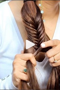 For all my ladies with long hair this is the Tutorial for you. You can ace a fishtail braid with these simple steps. It's just the method and trick that really matters so you can even do it if you hav Side Braids For Long Hair, Medium Hair Braids, Easy Hairstyles For Long Hair, Hair Up Long Hair, Hairstyles For Medium Length Hair Tutorial, Hair Plaits, Wedding Hairstyles, Wedding Updo, Wedding Makeup