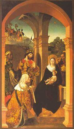 Epifanía del retablo mayor de la catedral de Sevilla - 1508 - Alejo Fernández
