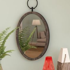 Shop Longshore Tides at Birch Lane for a classic selection and the best prices. Enjoy Free and Fast Shipping on most stuff, even big stuff! Circular Mirror, Metal Mirror, Round Wall Mirror, Mirror Set, Wall Mirrors, Medan, Style Nautique, Suspension Metal, Mirror Panels