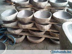Wastafel riviersteen wasbak graniet lavabo natuursteen wasko - Te koop | 2dehands.be