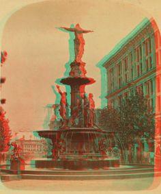 Cincinnati fountain, Cincinnati, Ohio. 1865?-1895? 3D