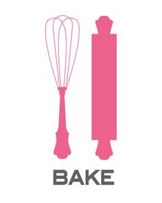 Art for Kitchen - Baking Basics - 8.5x11 Print - Digital Illustration Poster - Kitchen Art. $16.00, via Etsy.