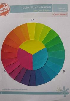 Color wheel from one of Joan Wolfrom's students