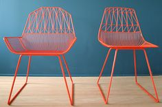 Wire and lounge chairs