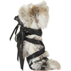 Pre-owned Isabel Marant Pietra White, Gray And Fawn Rabbit Fur With... ($690) ❤ liked on Polyvore featuring shoes, isabel marant shoes, grey shoes, isabel marant, kohl shoes and pre owned shoes
