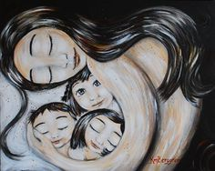 Veva's Home - Archival 13x19 signed motherhood print from an original painting by Katie m. Berggren