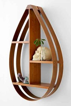 Bentwood Teardrop Shelf