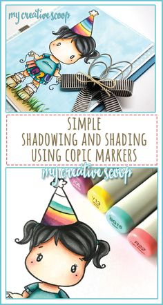 Simple Shading and Shadows using Copic Markers Step by step tutorial on how to shade your copic markers. This tutorial is perfect for Copic Beginners.