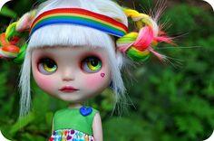 Rainbow Blythe #Blythe #rainbow #custom
