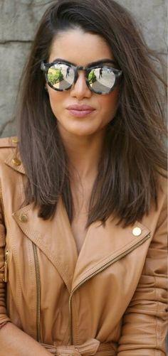 Camila Coelho's medium lenght hair cut