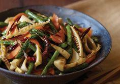 BUDDHA'S DELIGHT: Bamboo Shoot, Mushroom, and Long Bean Stir-Fry http://www.vegetariantimes.com/recipe/bamboo-shoot-mushroom-and-long-bean-stir-fry/