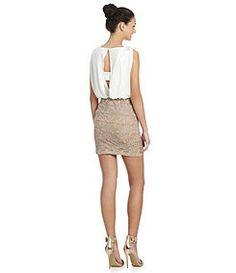 Jodi Kristopher Blouson Lace Dress