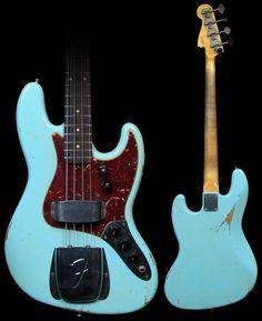 2002 Fender Custom Shop Jazz bass guitar '64 reissue Daphne blue