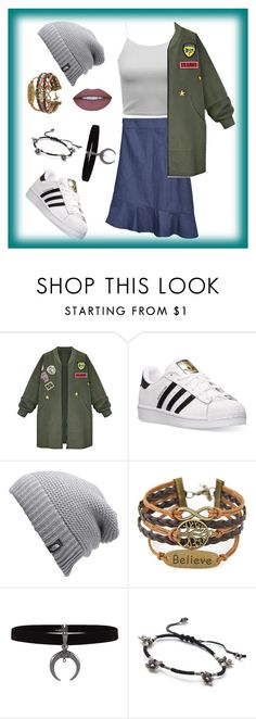 """""""Do what you like"""" by huyentrangle238 on Polyvore featuring WithChic, adidas and The North Face"""