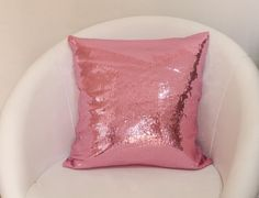 Pink decorative pillow case with sparkling by ThePillowWorld