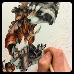 WIP pencil illustration :: Jarret Livingston