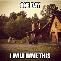 My dream, a horse, a fourwheeler the only thing that could make it better is a truck and a family! Heck ya country life is sweet! Country Girl Life, Country Girl Quotes, Country Girls, Country Living, Country Girl Stuff, Country Man, Southern Quotes, Girl Sayings, Country Strong