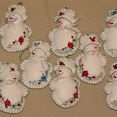 Christmas Ornament Craft Ideas – 10 Remarkable Ideas for Creating Handmade Christmas Ornaments Christmas Ornament Template, Christmas Ornament Crafts, Snowman Ornaments, Embroidered Christmas Ornaments, Snowman Crafts, Christmas Embroidery, Christmas Printables, Holiday Ornaments, Christmas Craft Projects