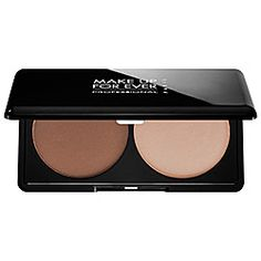 What it is: A compact powder duo that lets you highlight and contour the complexion for an ultrasculpted, natural finish. What it does: The Make Up For Ever Sculpting Kit naturally highlights, contours, and balances out the face with two contrasti
