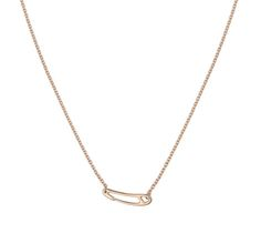 """Chaine d'Ancre Mini Punk Hermes necklace in rose gold, size standard Length: 15.7"""" - 16.5"""""""
