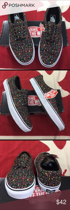 Vans Era Overspray The Era, a low top lace-up skate shoe, features sturdy double-stitched canvas and leather uppers with  interior details, metal eyelets, heel accents, padded collars for support and flexibility, and signature rubber waffle outsoles. Vans Shoes Sneakers