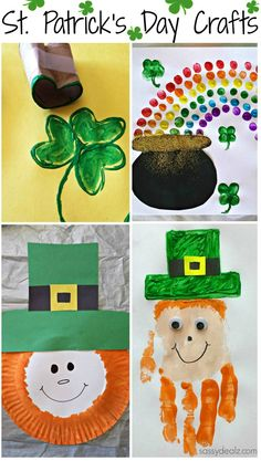 Easy St. Patrick's Day Crafts For Kids #St Pattys Day #Art Projects (Shamrocks, leprechauns, rainbows, pot of gold, lucky charms and more!) | http://www.sassydealz.com/2014/02/easy-st-patricks-day-crafts-kids.html