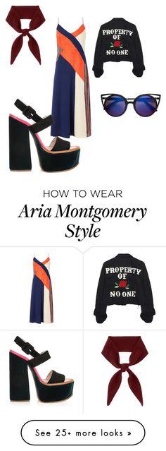 """""""Aria Montgomery"""" by gabigyn on Polyvore featuring Diane Von Furstenberg, Victoria Beckham and Chloé"""