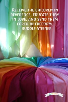 Rudolf Steiner, founder of Waldorf education - a quote on children , Rudolf Steiner, Waldorf Education, Primary Education, Science Education, Physical Education, Teaching Quotes, Education Quotes, Educational Activities For Preschoolers, Childhood Quotes