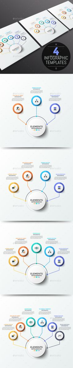 Buy Modern Infographic Choice Templates Items) by Andrew_Kras on GraphicRiver. Tree or choice diagram. Page Design, Layout Design, Web Design, Infographic Templates, Infographics Design, Annual Report Design, Powerpoint Design Templates, Business Brochure, Data Visualization
