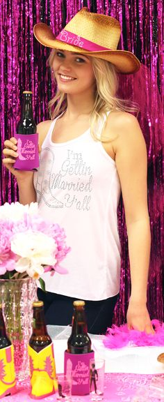 Bachelorette Ideas - throw a country western bachelorette party for a southern Bride to be