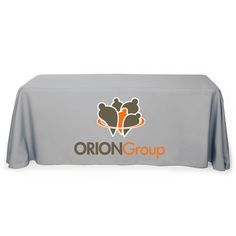 Personalize our custom table cover with your logo!  Free Setup with no minimum qty.