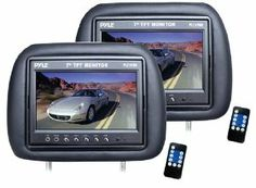 Sound Around PL71PHB Pyle-View Series Headrest Pair with Built-in 7 Inch TFT-LCD Monitors Black by Sound Around. $118.43. Headrest Package Includes Two 7 TFT Monitor Screen Size: 7 TFT-LCD Monitor Built-in Mini Speaker Aspect Ratio: 16:9 Wide Screen 1440 x 234 Resolution Contrast: Ratio: 300:1 Brightness: 350cd/m3 Up  Down Tilting Feature Viewing Angle: U/D: 160? L/R: 160? Response Time:  25ms Video Input Systems: AV1,AV2 PAL/NTSC Compatible Full Function Wireless Re...