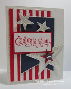 Celebrate America!  MOJO300 by RaeInReno - Cards and Paper Crafts at Splitcoaststampers Posted July 5, 2013