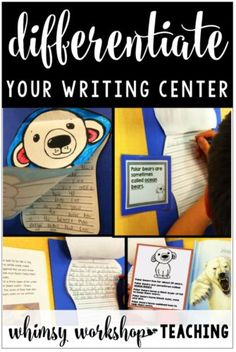 Ideas for easy writing center ideas and activities for kindergarten and grade one when differentiation is needed (free complete set)