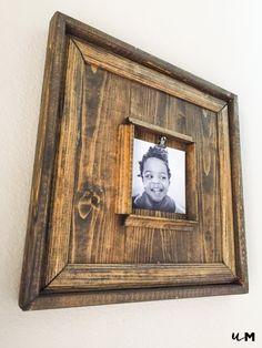 Rustic square wood frame