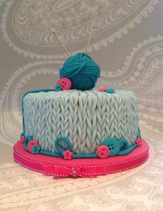 Wow, fabulous knitting cake by Bryony http://www.bryonymaycakes.com/ #knit #cake