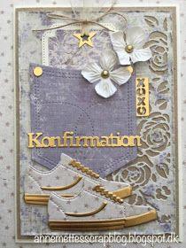 Anne-Mette´s scrapblog: Konfirmationskort 2018 Wood Crafts, Diy And Crafts, First Communion Cards, Pocket Cards, Tim Holtz, Quilling, Cardmaking, Joy, Scrapbook