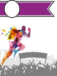 Cover buku program  •credit : Liyana Basri Sports Day Poster, Soccer Poster, Creative Poster Design, Creative Posters, School Border, Envelope Pattern, Cute Cartoon Pictures, School Programs, Scenery Wallpaper