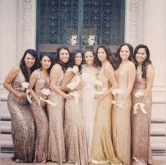 My BridesBABEs are my GOLDEN girls - how fitting are these dresses!?? :)))