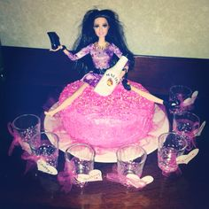 Drunk Barbie Birthday cake!