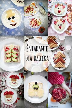 Śniadanie dla dziecka  - 10 pomysłów świątecznych #kids #food Toddler Meals, Kids Meals, Baby Food Recipes, Healthy Recipes, Polish Recipes, Food Humor, Cooking With Kids, Impreza, Breakfast Recipes
