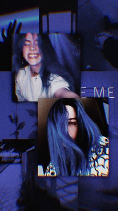 Aesthetic, wallpaper, and billie eilish image Aesthetic Eyes, Aesthetic Collage, Blue Aesthetic, Billie Eilish, Aesthetic Iphone Wallpaper, Aesthetic Wallpapers, Sad Wallpaper, Lila Baby, Videos Instagram